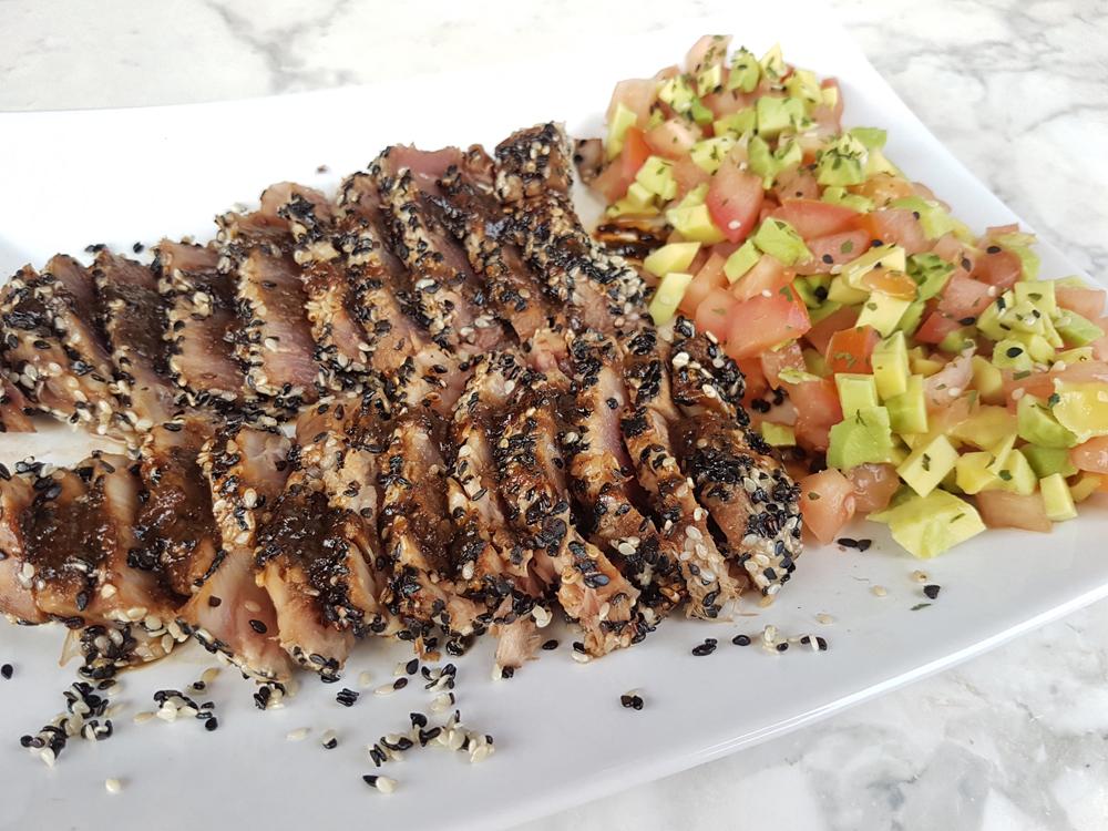 Sesame-Crusted Tuna Tataki with Avocado Tartar